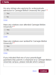 the ultimate guide to applying to carnegie mellon are any siblings also applying for undergraduate admission to carnegie mellon university this year select yes if you have one or more siblings who are