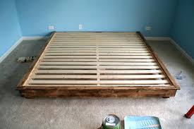 how to build a king size platform bed plans with drawers frame storage