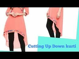 Latest <b>Up Down</b> Kurti Cutting | EASY METHOD - YouTube