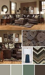 this dark brown leather sectional is a