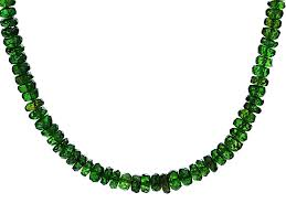 green chrome diopside 14k yellow gold bead necklace 50 00ctw kmh032 jtv com