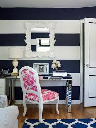 superb trellis rug in home office transitional with trellis mirror next to white framed mirror alongside blue and white stripes and freestanding trellis