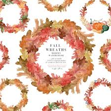 Fall Invitation Watercolor Fall Leaf Wreaths Clipart Thanksgiving Fall Wedding Bridal Shower Invitation Graphic With Transparent Background