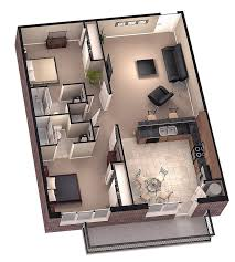 Small 2 Bedroom House Floor Plans Tiny House Floor Plans Brookside 3d Floor Plan 1 By Dave5264 On