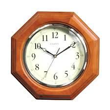 octagon wood clock chaney wall atomic