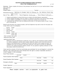 Sample Field Trip Permission Slips 12 Permission Slip Templates And Examples Pdf Examples
