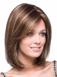 40cm Stylish Long Medium Straight Bob Hairstyle Wigs For Women Natural Brown Straight Heat Resistant Synthetic Fancy Dress Party Hair Replacement Wigs