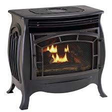 oakwood 22 in vent free propane gas fireplace logs with thermostatic