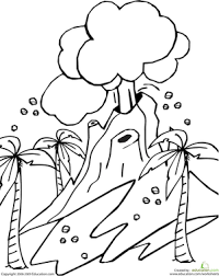 The volcano coloring pages featuring pictures of simple volcanic eruptions are suitable. Volcano Worksheet Education Com
