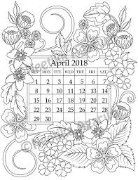 wele year 2018 with this intricate calendar based on my original artwork and has been turned into coloring page for you to enjoy