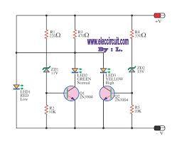 12v sla battery voltage level indicator circuit elektronika 12v sla battery voltage level indicator circuit