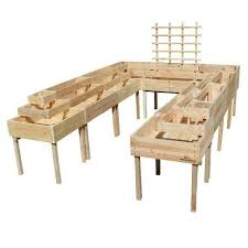 mix and match wooden planter boxes from gardenstuff
