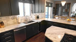 countertops with dark cabinets