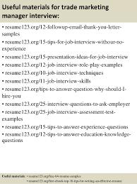 Marketing Coordinator Resume Sample Magnificent Top 48 Trade Marketing Manager Resume Samples