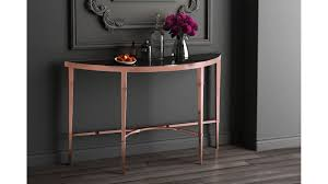 black wood console table modern pascale glass console table rose gold black zuri furniture