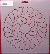 25 best Quilting Stencils images on Pinterest | Quilting stencils ... & Stencil Quilting Feather Circle 8 Inch 20.3cm quilt sew stitch embroidery  411 Adamdwight.com