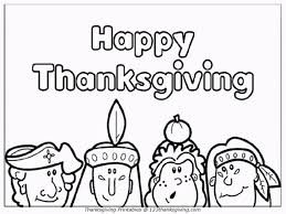 Thanksgiving Coloring Page For Kids Toddlers Happy Thanksgiving