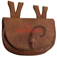 brown meval leather belt bag