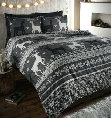 deer duvet cover slate flannelette quilt cover set deer duvet cover king