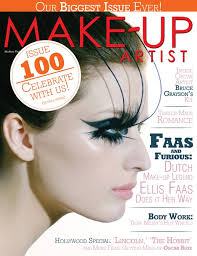 make up artist magazine issue no 100 february march 2016 two covers