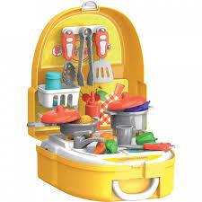 <b>Набор игровой</b> в чемоданчике Кухня 25 аксессуаров <b>Bondibon</b> ...