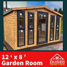 12 x 8 garden room fencing sheds