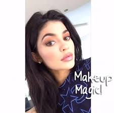 kylie jenner shares her makeup routine on snapchat