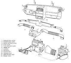 repair guides heater core removal installation autozone com exploded view of the air distribution ducting system suzuki sidekick sidekick sport and x 90 similar