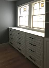 built in closet drawers countertop ridgewood closets