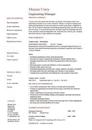 Resume For Engineering Engineering Manager Resume Sample Template Example Managerial