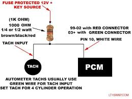tach wiring for 99 vortec ls1 autometer shift light instructions at Autometer Tach Wiring Diagram