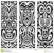 Polynesian этнические орнаменты стиля иллюстрация вектора