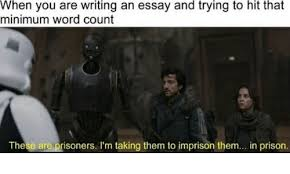 when you are writing an essay and trying to hit that minimum word  prison word and word count when you are writing an essay and trying