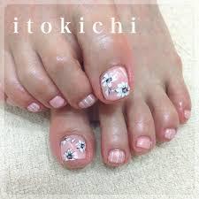 フットジェルで夏ネイル福岡市中央区のネイル爪のお手入れサロンitokichi
