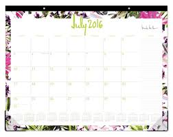 desk pad calendar on desk. Fine Pad Nicole Miller Monthly Desk Pad Calendar 22 X 17 Rio July 2016 To June 2017  By Office Depot U0026 OfficeMax In On O
