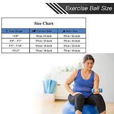 Yoga Ball Size Chart Fly2sky Exercise Ball Fitness Stability Ball Workout Yoga Ball Chairs For Office Home Anti Burst Non Slip Gym Ball For Therapy Pilates Birth With