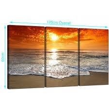 canvas art prints beautiful beach sunset canvas prints uk set of 3 for your