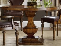 furniture tynecastle medium wood 48 wide round pedestal dining table 5323 75203