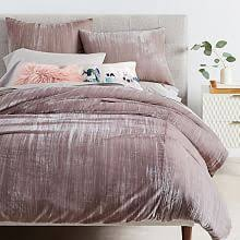 velvet bedding collections. Brilliant Collections Crinkle Velvet Duvet Cover  Shams  Dusty Blush  And Bedding Collections