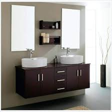 bathroom vanities amazing espresso finish wall mirror mounted bathroom vanity made of solid wood in color scheme with round white sinks mount mirrors