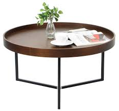 Walnut Furniture Living Room Barrie Walnut Round Tray Table Coffee Tables Living Room