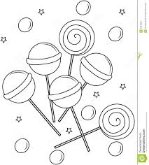 Small Picture Lollipops Coloring Page Stock Illustration Image 53848631
