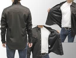 deerskin deer leather jacket deerskin leather shirt 7965 leather leather jacket long sleeve shirts leather t shirts