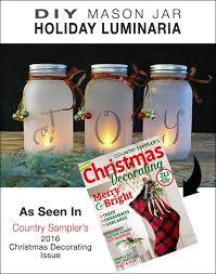 Decorate A Jar For Christmas DIY Mason Jar Holiday Luminaria The Budget Decorator 79