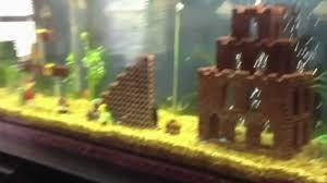Mario Brothers Aquarium Decorations Un Aquarium Super Mario Youtube