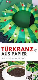 Weihnachtliche Papier Türkränze Einfache Ideen Zum Selbermachen