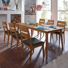 Holz Esstisch Mit Stühlen Likes Aus Wildeiche Massiv 7 Teilig
