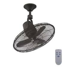 indoor outdoor natural iron oscillating ceiling fan with remote control
