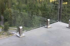 super clear deck glass and railing system odmi