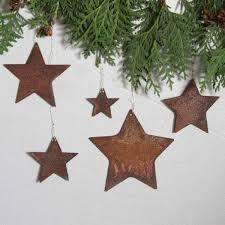 Sterne Gefüllt 5 Tlg Anhänger Rost Christbaumschmuck